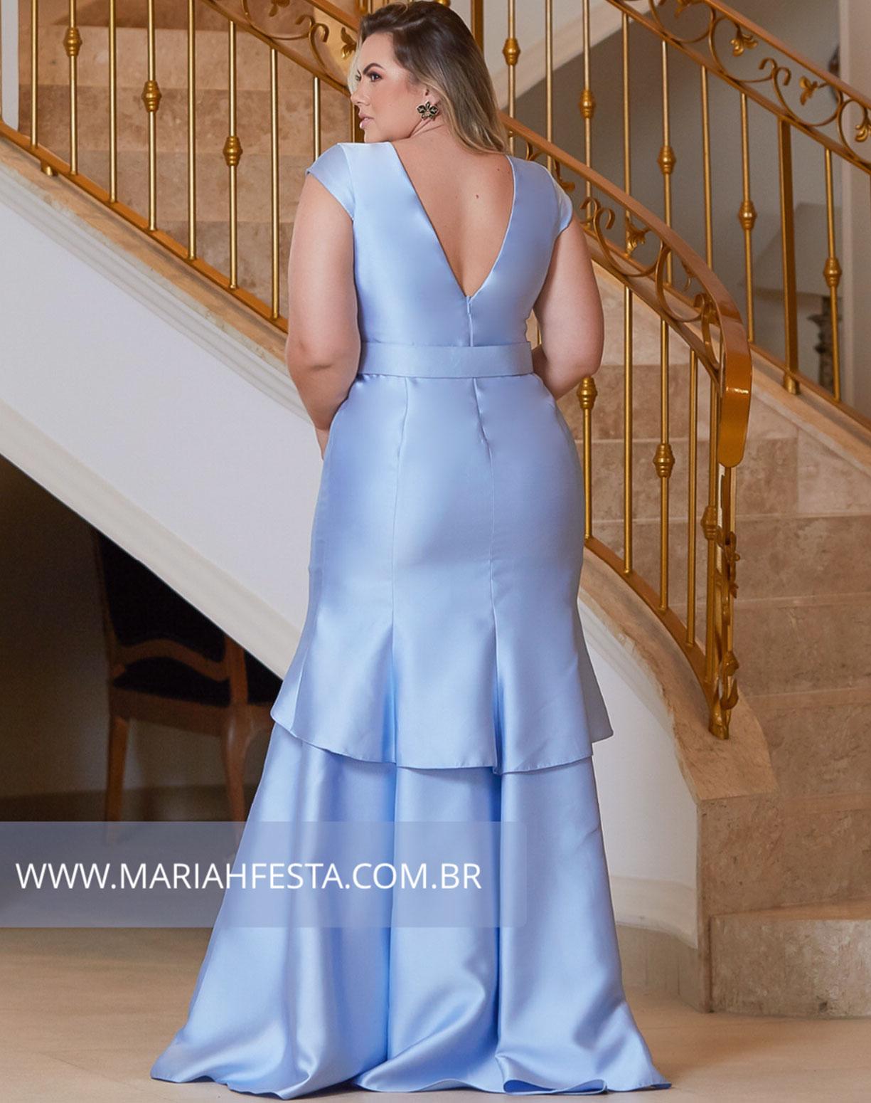 Vestido Azul Serenity Sereia em Zibeline