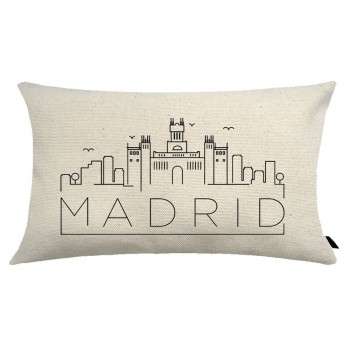 Almofada City Retangular Estampada 30x50cm Madrid