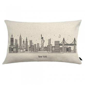 Almofada City Retangular Estampada 30x50cm New York