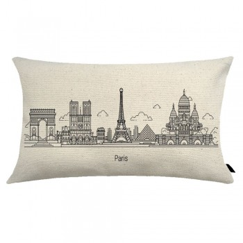 Almofada City Retangular Estampada 30x50cm Paris