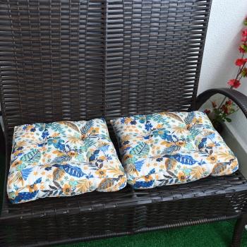 Almofada Futton Turco Wendy 42x42cm Plantas Azul