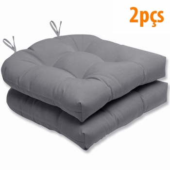 Almofada Para Assento Futton Solid 40x40cm Cinza 2Pçs