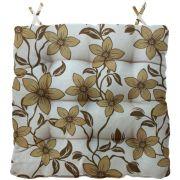 Almofada Para Cadeira Futton Firenze 40x40cm Floral Bege