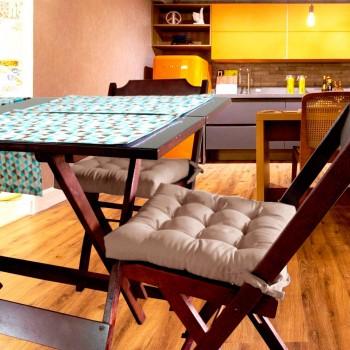 Almofada Para Cadeira Futton Ox 40x40cm - Bege