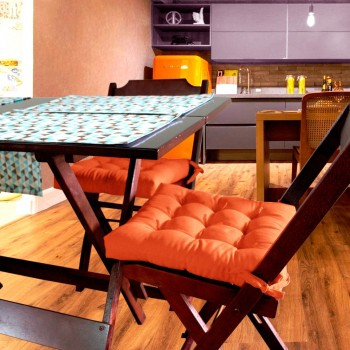 Almofada Para Cadeira Futton Ox 40x40cm - Laranja