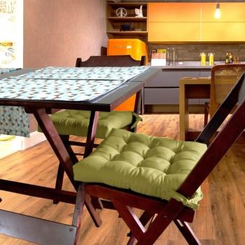 Almofada Para Cadeira Futton Ox 40x40cm - Mostarda