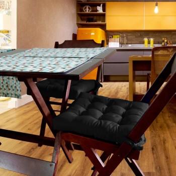 Almofada Para Cadeira Futton Ox 40x40cm - Preto
