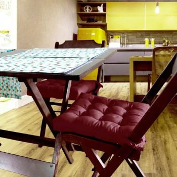 Almofada Para Cadeira Futton Ox 40x40cm - Vinho