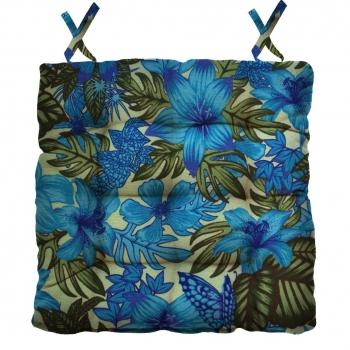 Almofada Para Cadeira Futton Ox Tropical 40x40cm - Azul