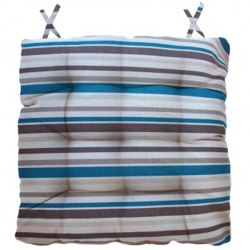Almofada Para Cadeira Futton Ox Tropical 40x40cm -Listras Azul