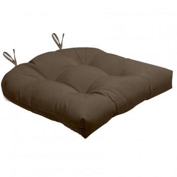 Almofada Para Cadeira Futton Solid 40x40cm  - Marrom