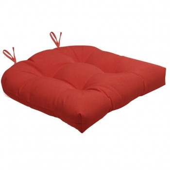 Almofada Para Cadeira Futton Solid 40x40cm  - Vermelho