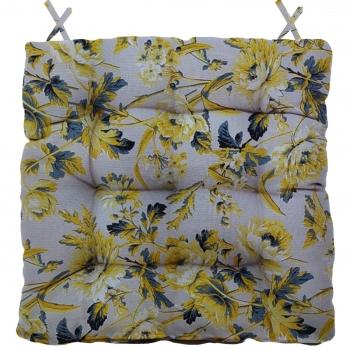 Almofada Para Cadeira Futton Wendy 40x40cm Amarelo