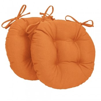Almofada Para Cadeira Redondo Ø40cm - 2pçs Laranja