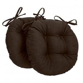Almofada Para Cadeira Redondo Ø40cm - 2pçs Marrom