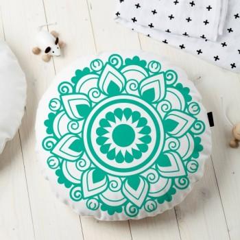 Almofada Redonda Estampada Mandala 45x45cm Obery - Tiffany