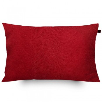 Almofada Retangular Veludo Animalle 30x50cm Vermelha