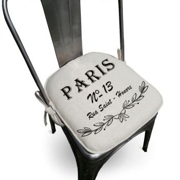 Assento Para Cadeira Algodão Paris 40x40cm