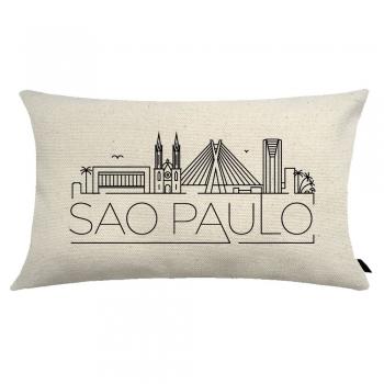 Capa de Almofada City Retangular Estampada 30x50cm São Paulo
