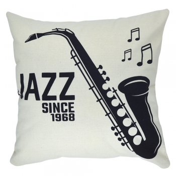 Capa de Almofada Jazz 40x40cm - Serigrafada Frente e Verso