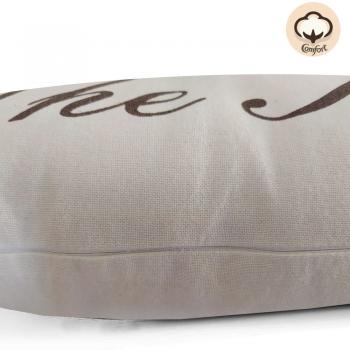 Capa de Almofada Natural King 50x50cm Tabaco