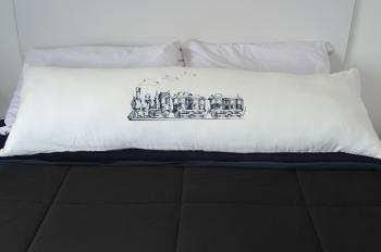 Capa Para Travesseiro De Corpo Body Pillow Natural 40x130cm Trem