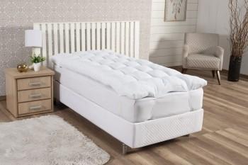 Pillow Top Solteiro Fibra Siliconizada Em Flocos Branco