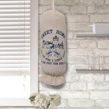 Puxa saco Sweet Home 43x22cm Azul