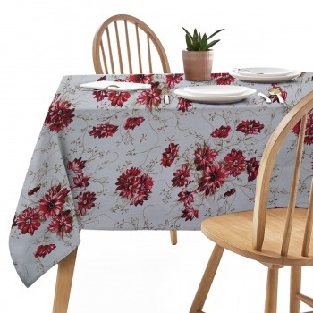 Toalha de Mesa Firenze Floral Vermelha