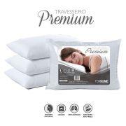 Travesseiro Premium 50cmx70cm com Fibra Siliconizada