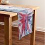 Caminho de Mesa Estampado 47x220cm Wendy Azul/Vermelho