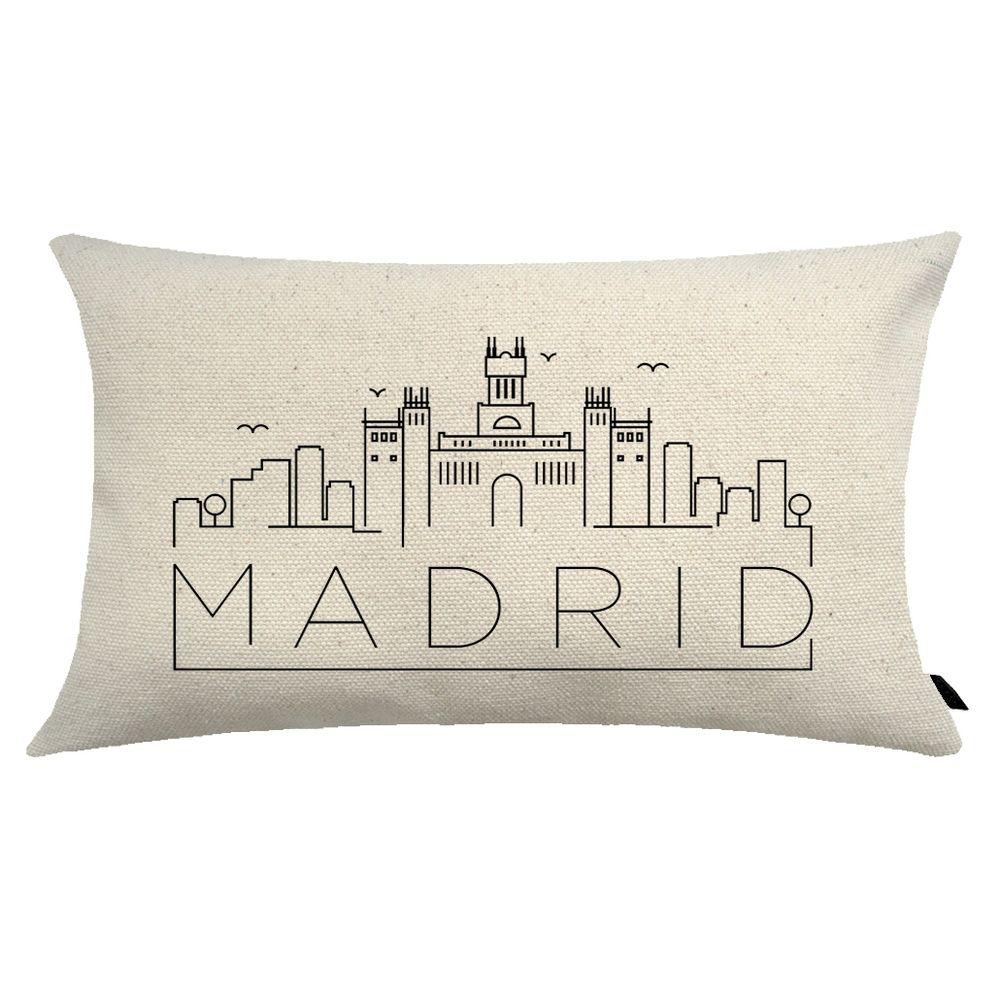 Almofada City Retangular Estampada 30x50cm Madrid