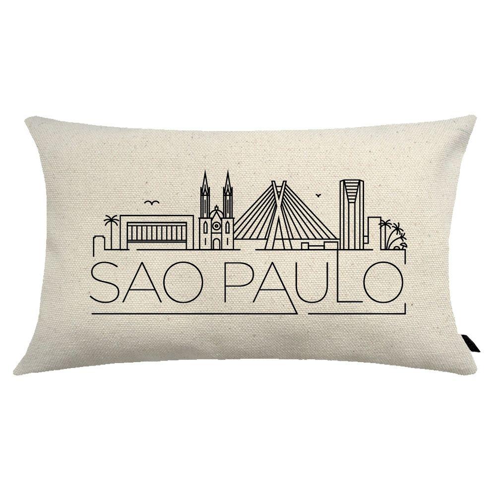 Almofada City Retangular Estampada 30x50cm São Paulo