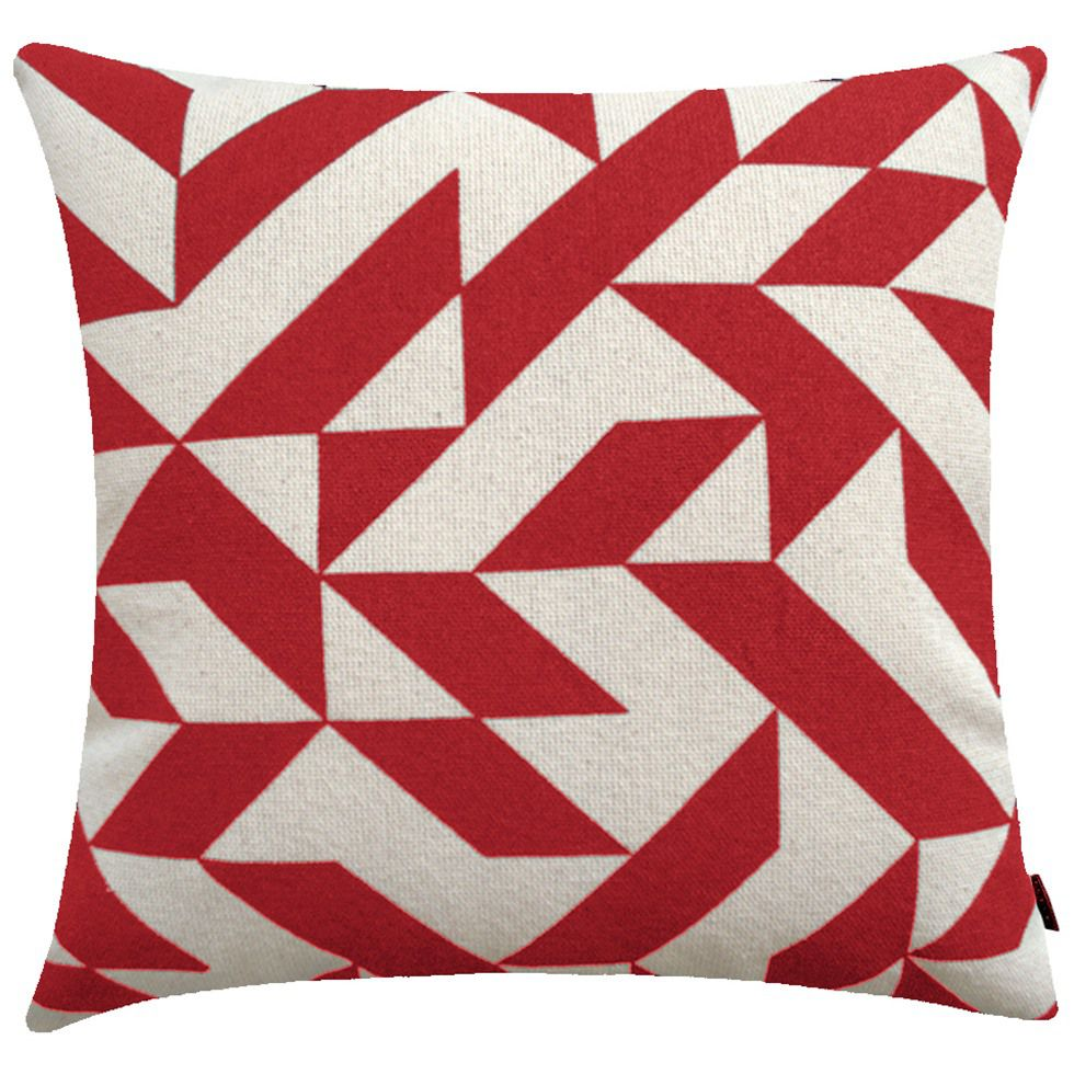 Almofada Estampada Geométrica Brindisi - Vermelha