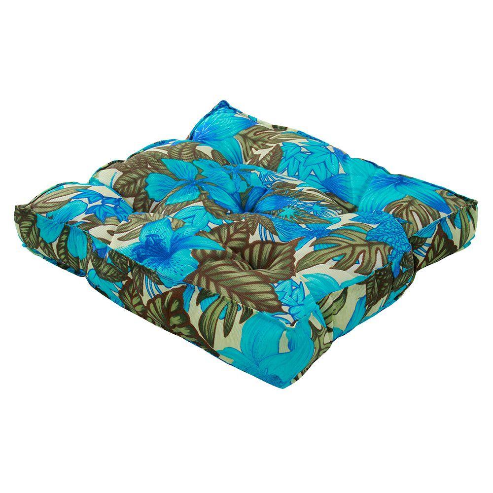 Almofada Futton Turco 42x42cm Tropical Azul