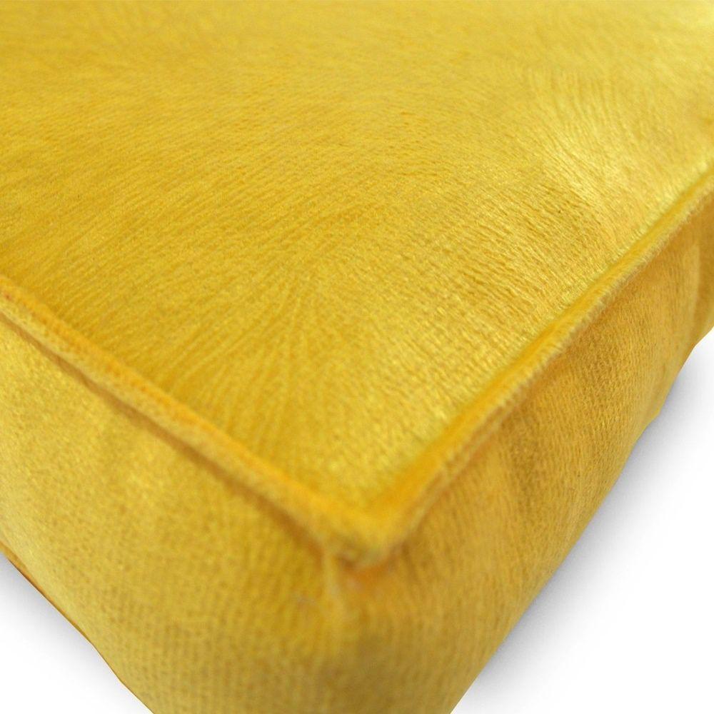 Almofada Futton Turco Veludo 42x42cm - Amarelo