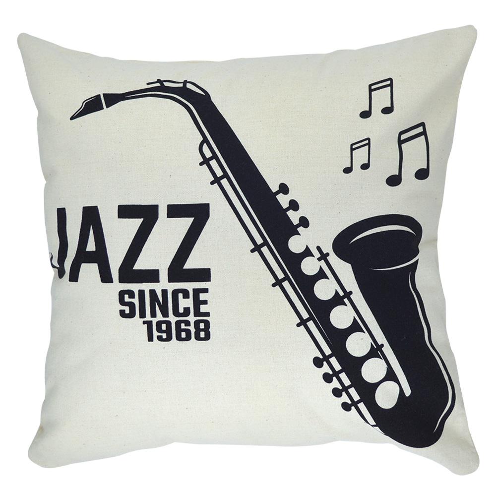 Almofada Jazz 40x40cm - Serigrafada Frente e Verso