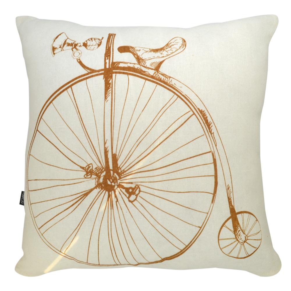 Almofada Serigrafada 50x50cm Bike c/ Enchimento