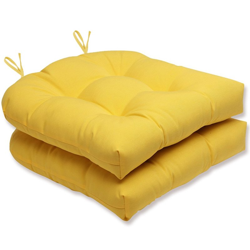 Almofada Para Assento Futton Solid 40x40cm Amarelo 2Pçs