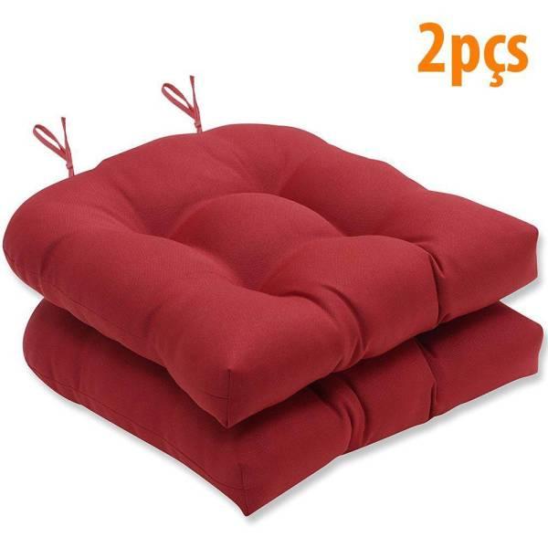 Almofada Para Assento Futton Solid 40x40cm Vermelho 2Pçs