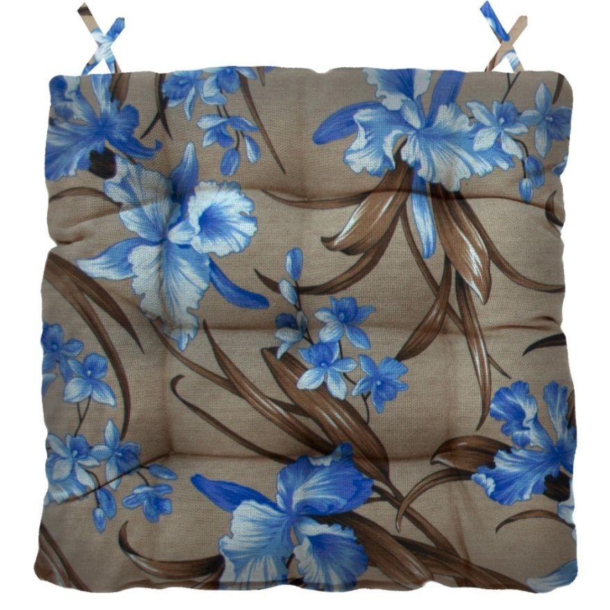 Almofada Para Cadeira Futton Firenze 40x40cm Floral Marrom