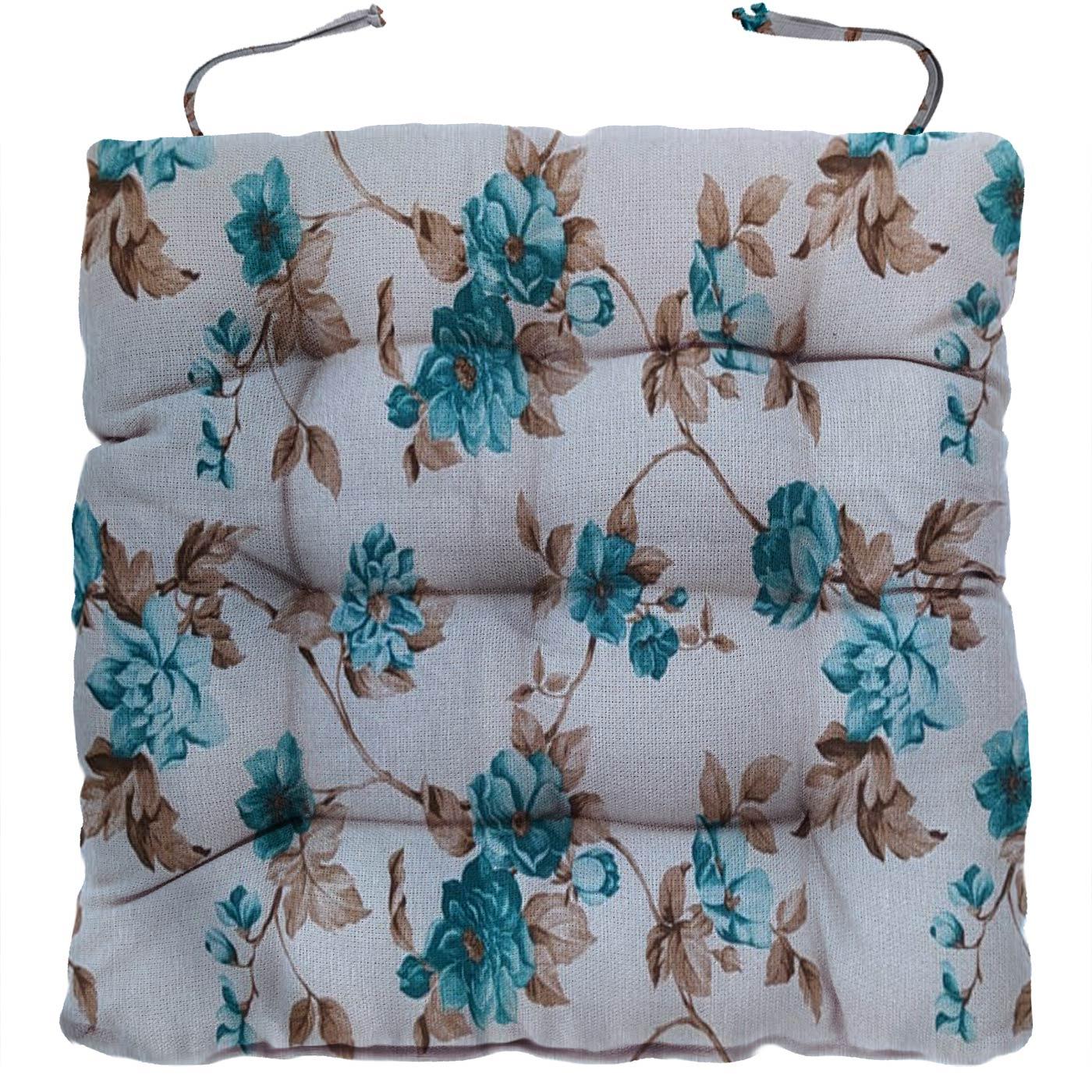 Almofada Para Cadeira Futton Firenze 40x40cm Hortênsias