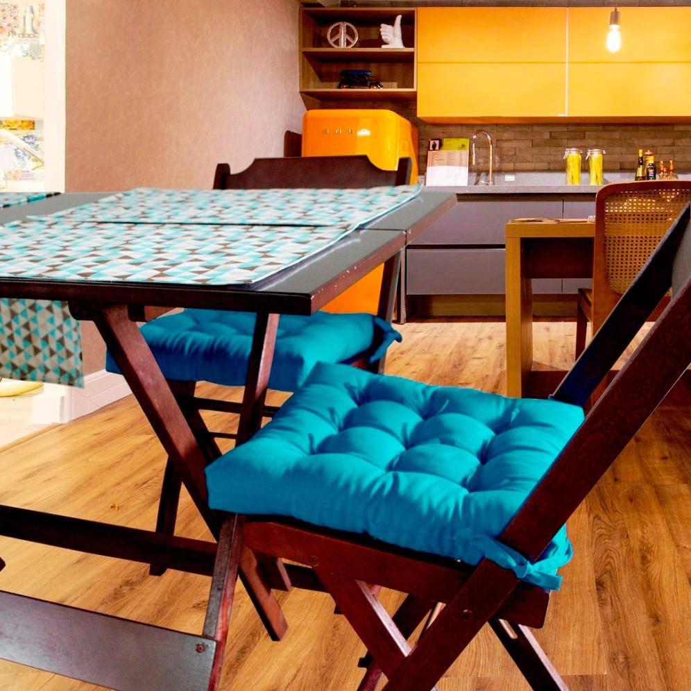 Almofada Para Cadeira Futton Ox 40x40cm - Turquesa