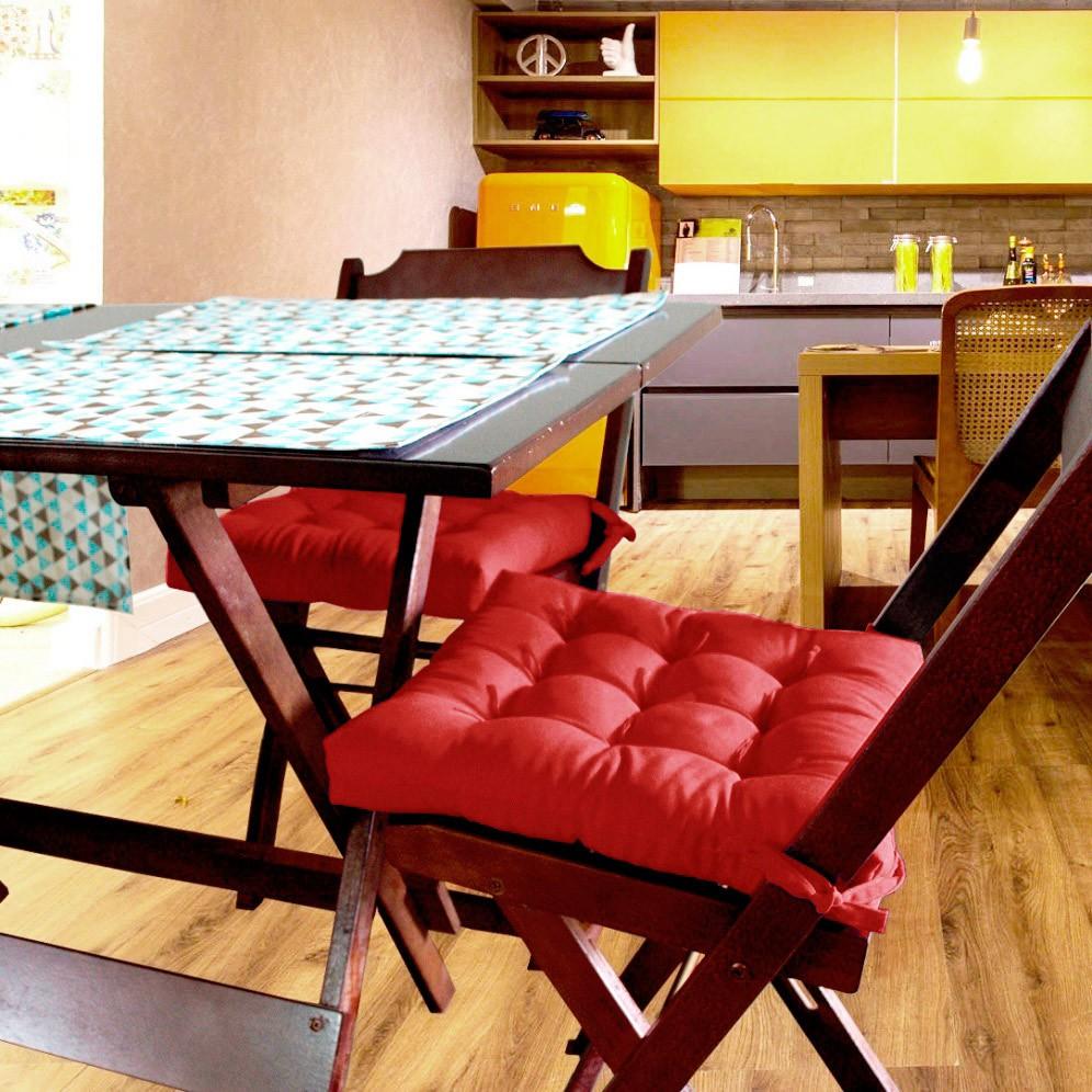 Almofada Para Cadeira Futton Ox 40x40cm - Vermelho