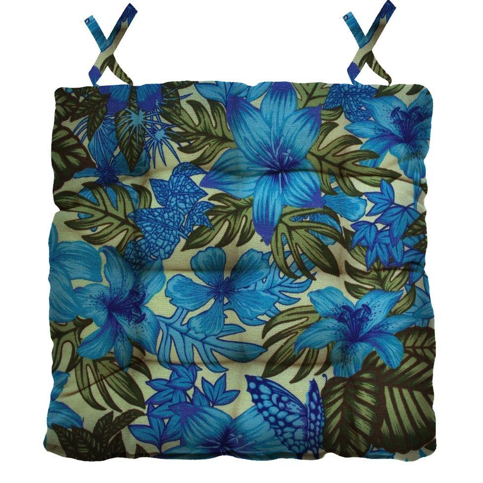 Almofada Para Cadeira Futton Ox Tropical 40x40cm - Azul Royal