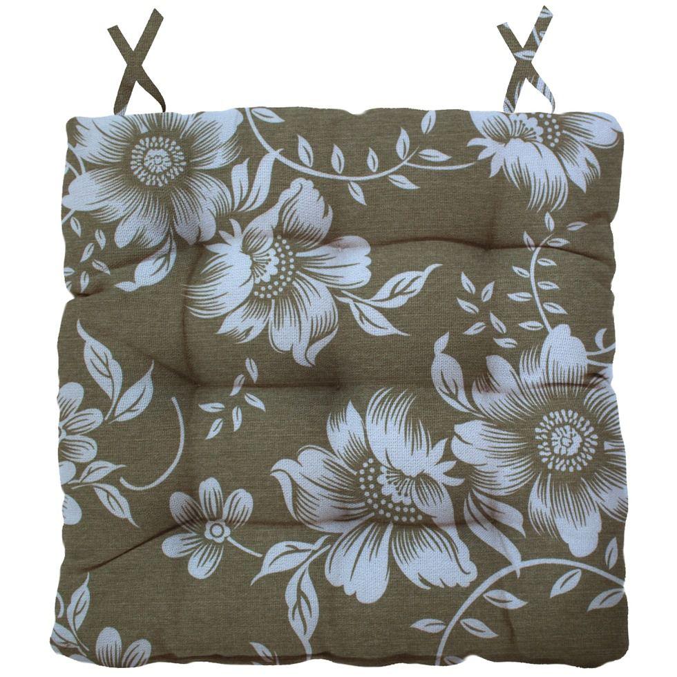 Almofada Para Cadeira Futton Ox Tropical 40x40cm - Cáqui