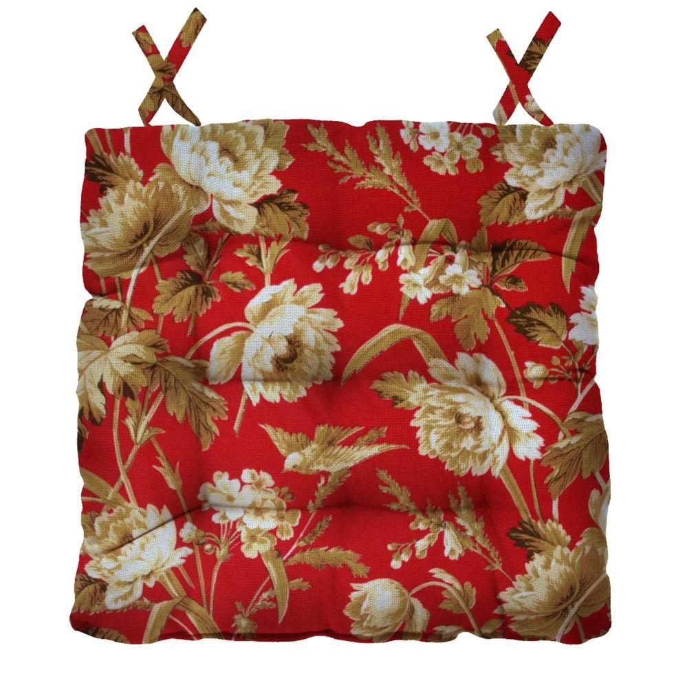 Almofada Para Cadeira Futton Ox Tropical 40x40cm - Vermelho