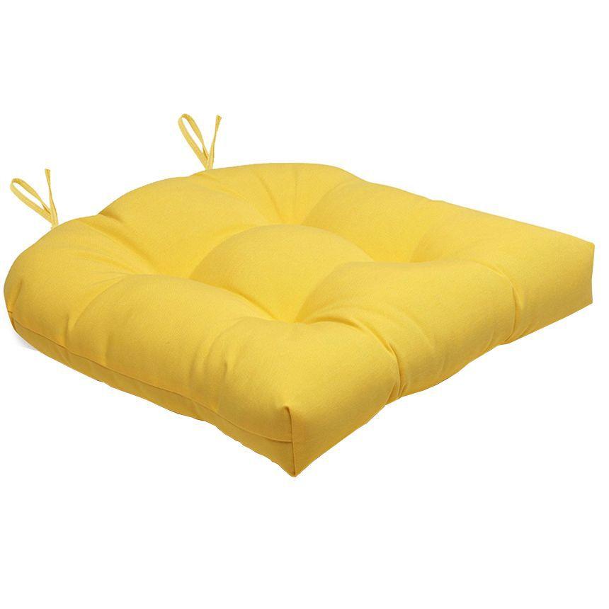Almofada Para Cadeira Futton Solid 40x40cm  - Amarelo
