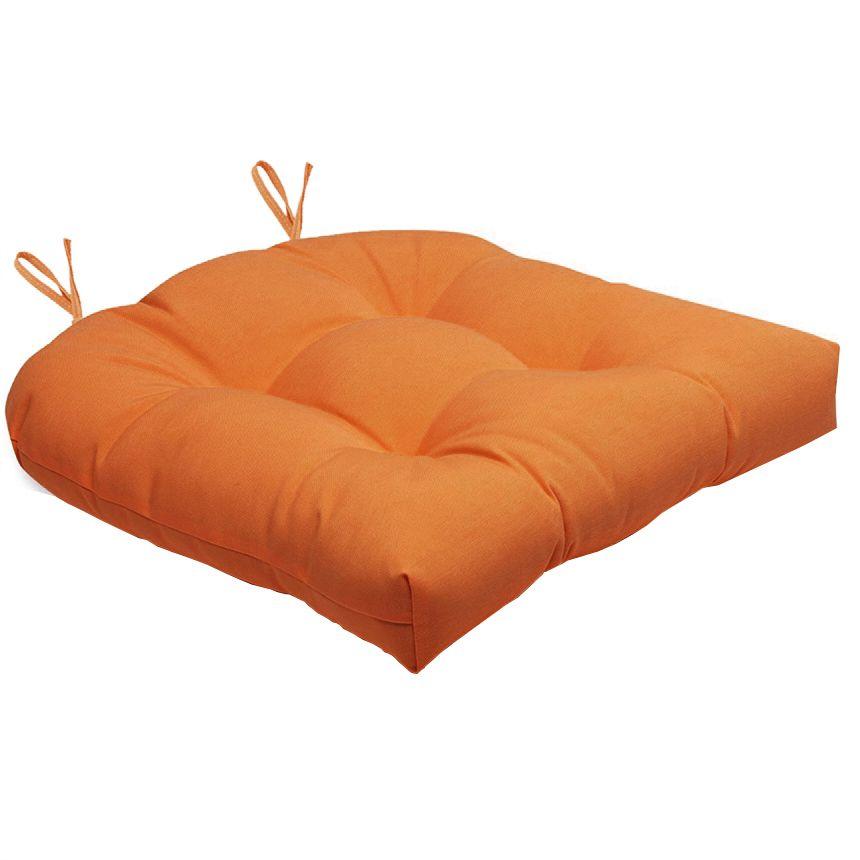 Almofada Para Cadeira Futton Solid 40x40cm  - Laranja