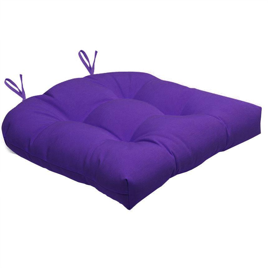 Almofada Para Cadeira Futton Solid 40x40cm  - Lilás escuro